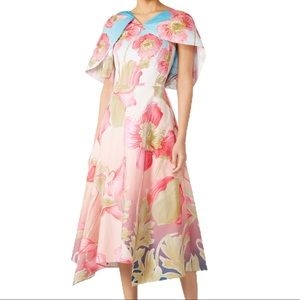 COPY - LIKE NEW Peter Pilotto pink floral asymmetric mid
